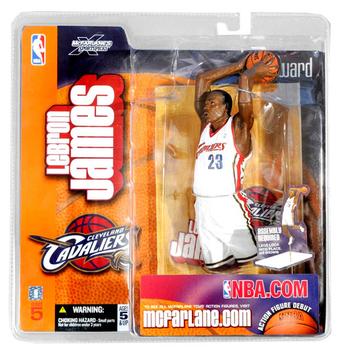 McFarlane Toys NBA Cleveland Cavaliers Sports Picks Series 5 LeBron James Action Figure [White Jersey]