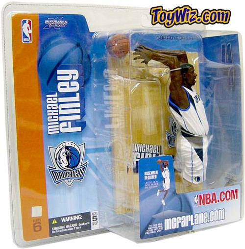 McFarlane Toys NBA Dallas Mavericks Sports Picks Series 6 Michael Finley Action Figure [White Jersey]