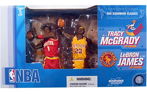 McFarlane Toys NBA Houston Rockets / Cleveland Cavaliers Sports Picks 2-Packs Tracy McGrady & LeBron James Action Figure 2-Pack