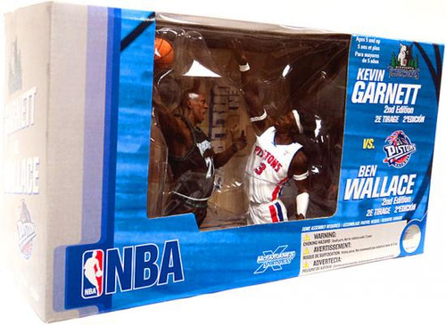 McFarlane Toys NBA Minnesota Timberwolves / Detroit Pistons Sports Picks 2-Packs Kevin Garnett & Ben Wallace Action Figure 2-Pack
