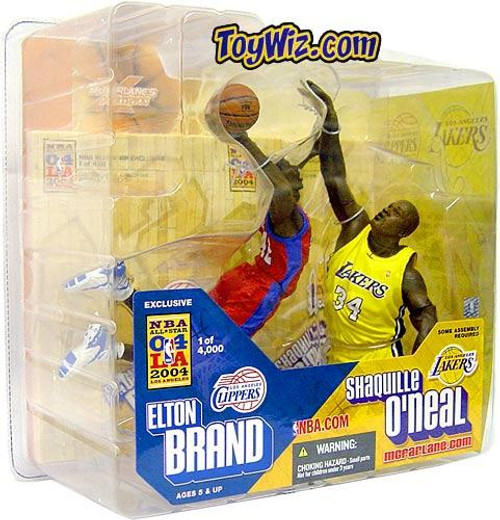McFarlane Toys NBA Los Angeles Clippers / Los Angeles Lakers Sports Picks Exclusive Elton Brand & Shaquille O'neal Exclusive Action Figure 2-Pack