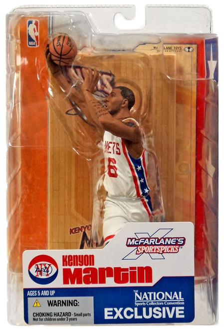 McFarlane Toys NBA New Jersey Nets Sports Picks Exclusive Kenyon Martin Exclusive Action Figure [Retro New York Nets Jersey]