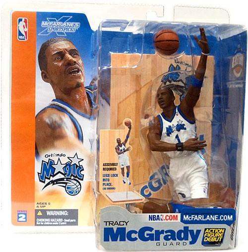 McFarlane Toys NBA Orlando Magic Sports Picks Series 2 Tracy McGrady Action Figure [White Jersey]
