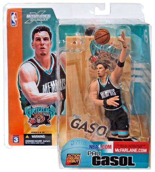 McFarlane Toys NBA Memphis Grizzlies Sports Picks Series 3 Pau Gasol Action Figure [Black Jersey]
