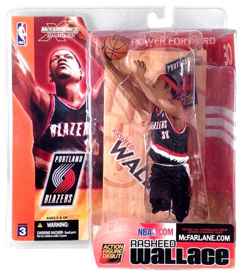 McFarlane Toys NBA Portland Trailblazers Sports Picks Series 3 Rasheed Wallace Action Figure [Black Jersey]