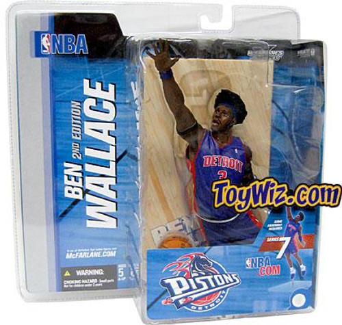 McFarlane Toys NBA Detroit Pistons Sports Picks Series 7 Ben Wallace Action Figure [Blue Jersey Afro]