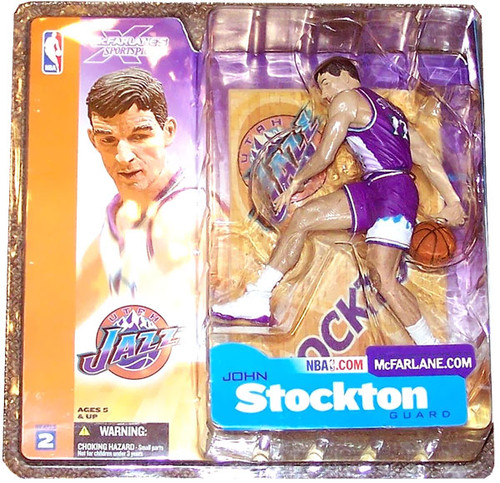 McFarlane Toys NBA Utah Jazz Sports Picks Series 2 John Stockton Action Figure [Purple Jersey Variant]