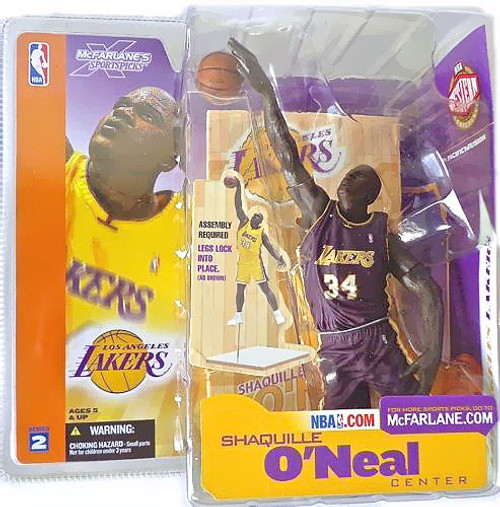 McFarlane Toys NBA Los Angeles Lakers Sports Picks Series 2 Shaquille O'Neal Action Figure [Purple Jersey Variant]