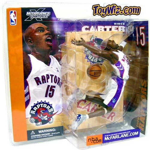 McFarlane Toys NBA Toronto Raptors Sports Picks Series 1 Vince Carter Action Figure [White Jersey]