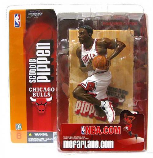 McFarlane Toys NBA Chicago Bulls Sports Picks Series 6 Scottie Pippen Action Figure [White Jersey Variant]