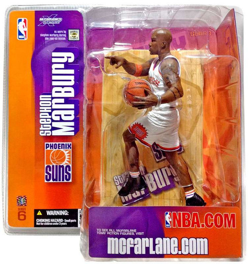McFarlane Toys NBA Phoenix Suns Sports Picks Series 6 Stephon Marbury Action Figure [Retro Jersey Variant]