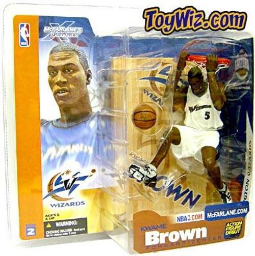McFarlane Toys NBA Washington Wizards Sports Picks Series 2 Kwame Brown Action Figure [White Jersey Variant]