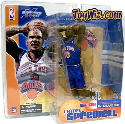 McFarlane Toys NBA New York Knicks Sports Picks Series 3 Latrell Sprewell Action Figure [Blue Jersey Variant]