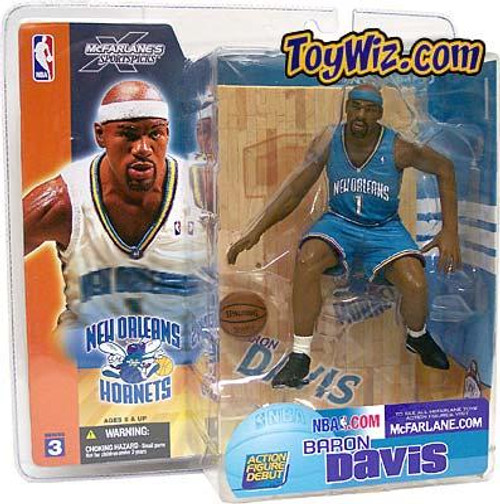 McFarlane Toys NBA New Orleans Hornets Sports Picks Series 3 Baron Davis Action Figure [Turquoise Jersey Variant]
