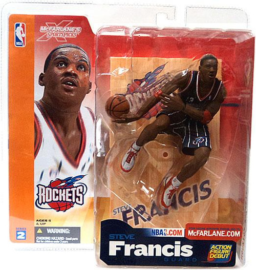 McFarlane Toys NBA Houston Rockets Sports Picks Series 2 Steve Francis Action Figure [Dark Blue Jersey Variant]