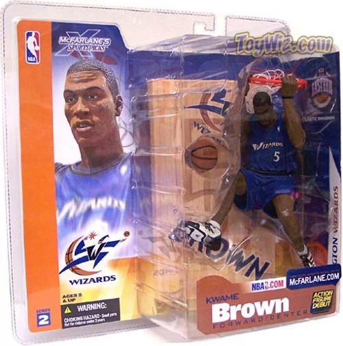 McFarlane Toys NBA Washington Wizards Sports Picks Series 2 Kwame Brown Action Figure [Blue Jersey]