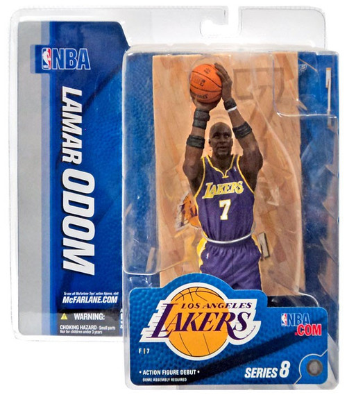McFarlane Toys NBA Los Angeles Lakers Sports Picks Series 8 Lamar Odom Action Figure [Purple Jersey]