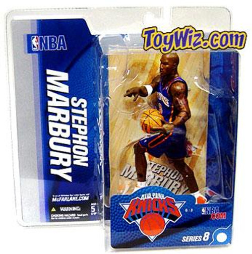 McFarlane Toys NBA New York Knicks Sports Picks Series 8 Stephon Marbury Action Figure [Blue Jersey]