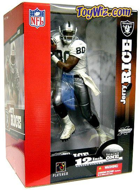 McFarlane Toys NFL Oakland Raiders Sports Picks 12 Inch Deluxe Jerry Rice Action Figure [White Jersey]