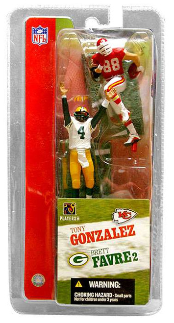 McFarlane Toys NFL Green Bay Packers / Kansas City Chiefs Sports Picks 3 Inch Mini Series 2 Brett Favre & Tony Gonzalez Mini Figure 2-Pack 2-Pack