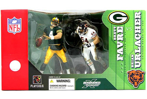 McFarlane Toys NFL Green Bay Packers / Chicago Bears Sports Picks Brett Favre & Brian Urlacher Action Figure 2-Pack [Urlacher White Jersey]