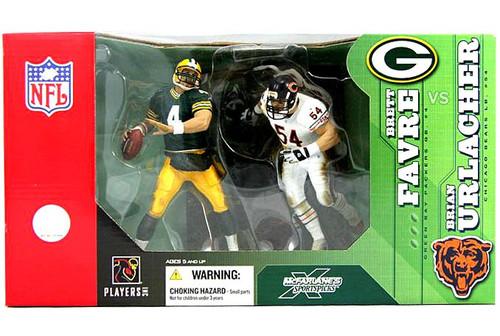 McFarlane Toys NFL Green Bay Packers / Chicago Bears Sports Picks 2-Packs Brett Favre & Brian Urlacher Action Figure 2-Pack