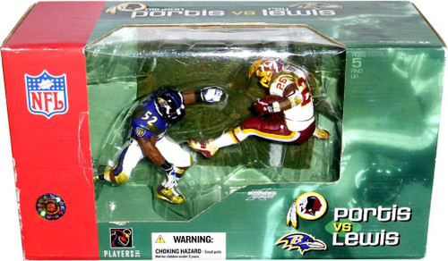 McFarlane Toys NFL Baltimore Ravens / Washington Redskins Sports Picks 2-Packs Ray Lewis & Clinton Portis Action Figure 2-Pack