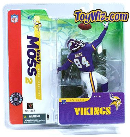 McFarlane Toys NFL Minnesota Vikings Sports Picks Series 10 Randy Moss Action Figure [Purple Jersey]