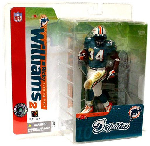 McFarlane Toys NFL Miami Dolphins Sports Picks Series 10 Ricky Williams Action Figure [Green Jersey]