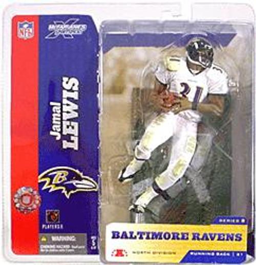McFarlane Toys NFL Baltimore Ravens Sports Picks Series 8 Jamal Lewis Action Figure [White Jersey Variant]