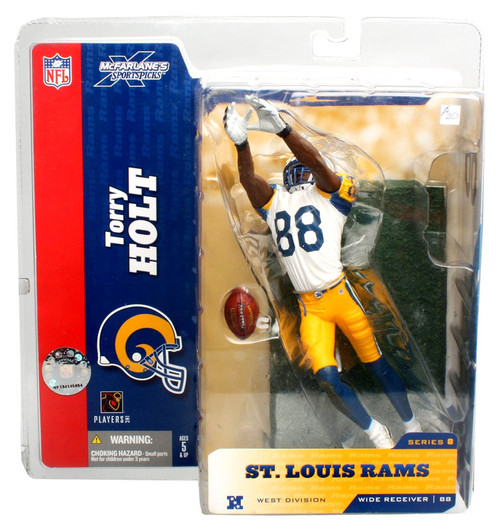 McFarlane Toys NFL St. Louis Rams Sports Picks Series 8 Torry Holt Action Figure #88 [White Jersey #88 Retro Variant]