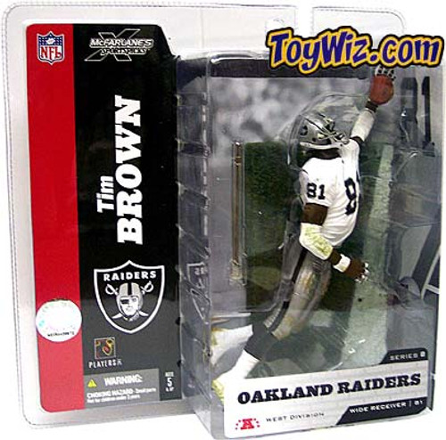 McFarlane Toys NFL Oakland Raiders Sports Picks Series 8 Tim Brown Action Figure [White Jersey No Towel Variant]