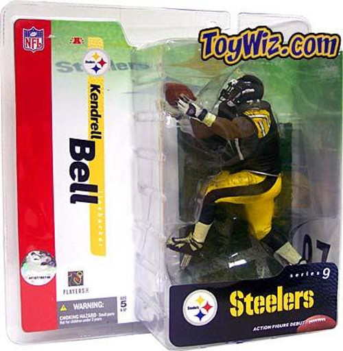 McFarlane Toys NFL Pittsburgh Steelers Sports Picks Series 9 Kendrell Bell Action Figure [Black Jersey Variant]