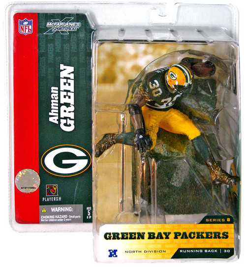 McFarlane Toys NFL Green Bay Packers Sports Picks Series 8 Ahman Green Action Figure [Green Jersey]