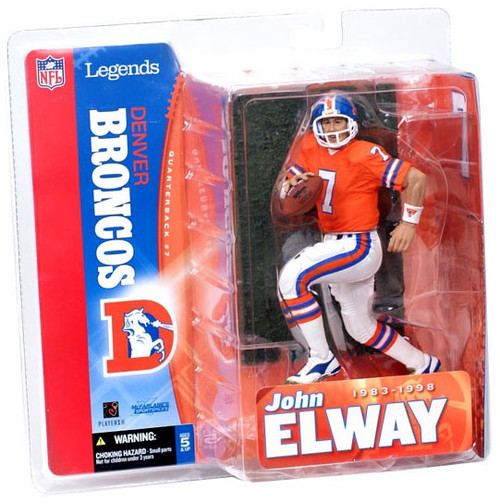 McFarlane Toys NFL Denver Broncos Sports Picks Legends Series 1 John Elway Action Figure [Orange Jersey]