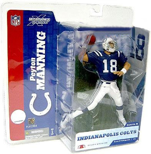 McFarlane Toys NFL Indianapolis Colts Sports Picks Series 8 Peyton Manning Action Figure [Blue Jersey]