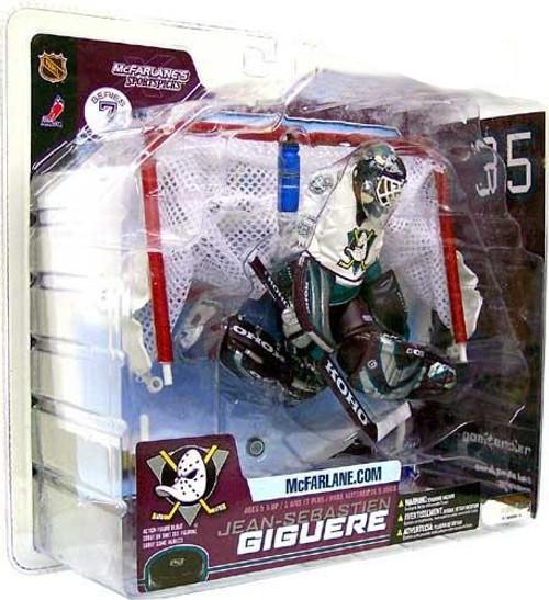 McFarlane Toys NHL Anaheim Mighty Ducks Sports Picks Series 7 Jean-Sebastien Giguere Action Figure [White Jersey]