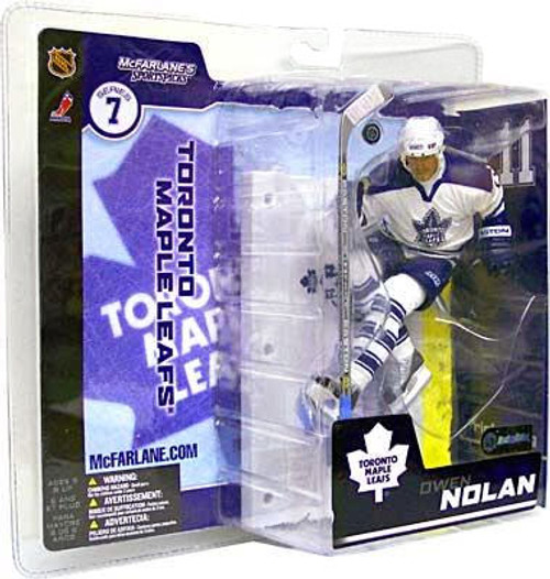 McFarlane Toys NHL Toronto Maple Leafs Sports Picks Series 7 Owen Nolan Action Figure [White Jersey]