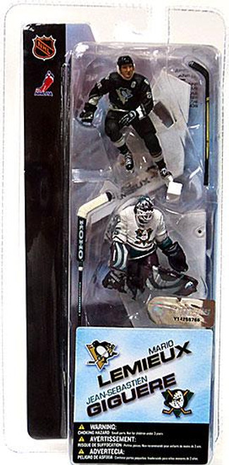 McFarlane Toys NHL Pittsburgh Penguins & Anaheim Mighty Ducks Sports Picks 3 Inch Mini Series 1 Mario Lemieux & Jean Sebastien Mini Figure 2-Pack