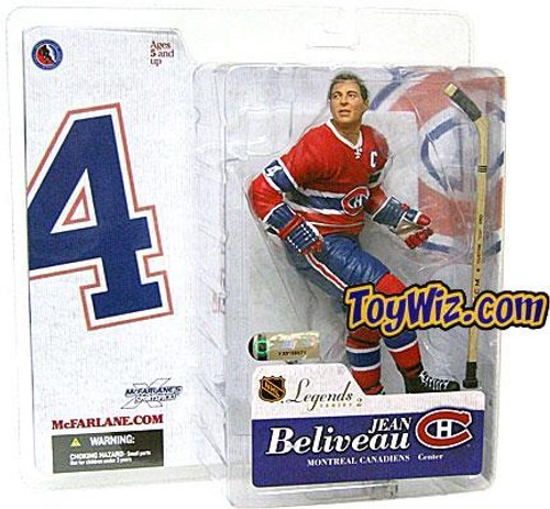 McFarlane Toys NHL Montreal Canadiens Sports Picks Legends Series 2 Jean Beliveau Action Figure [Red Jersey]