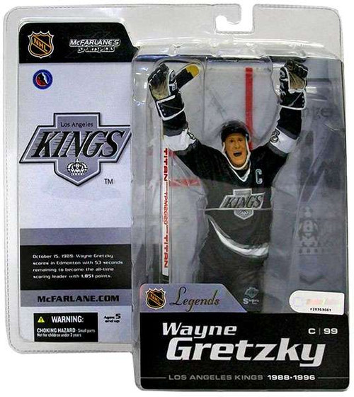 McFarlane Toys NHL Los Angeles Kings Sports Picks Legends Series 1 Wayne Gretzky Action Figure [Black Jersey]