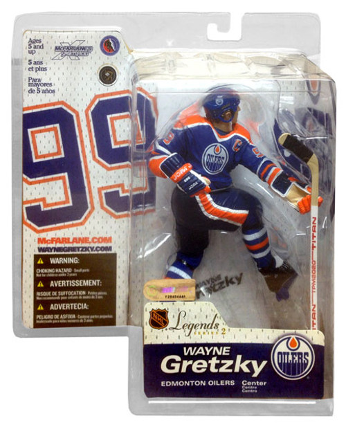 McFarlane Toys NHL Edmonton Oilers Sports Picks Legends Series 2 Wayne Gretzky Action Figure [Blue Jersey]