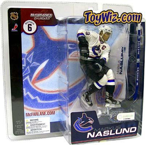 McFarlane Toys NHL Vancouver Canucks Sports Picks Series 6 Markus Naslund Action Figure [White Jersey Variant]
