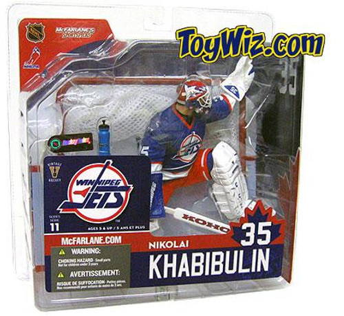 McFarlane Toys NHL Winnipeg Jets Sports Picks Series 11 Nikolai Khabibulin Action Figure [Blue Jersey]