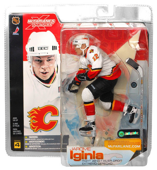 McFarlane Toys NHL Calgary Flames Sports Picks Series 4 Jarome Iginla Action Figure [White Jersey]