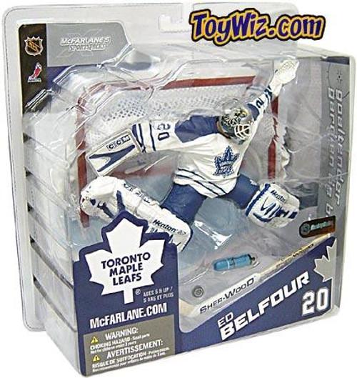 McFarlane Toys NHL Toronto Maple Leafs Sports Picks Series 8 Ed Belfour Exclusive Action Figure [White Jersey]