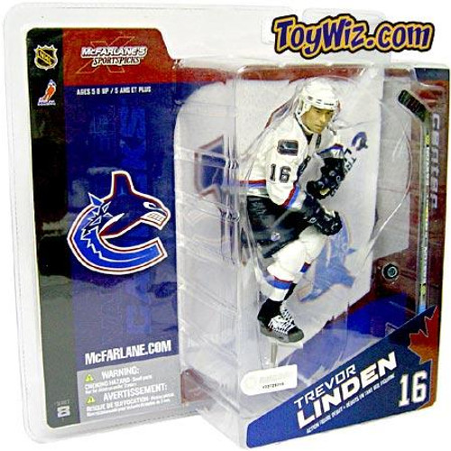 McFarlane Toys NHL Vancouver Canucks Sports Picks Series 8 Trevor Linden Exclusive Action Figure [White Jersey]