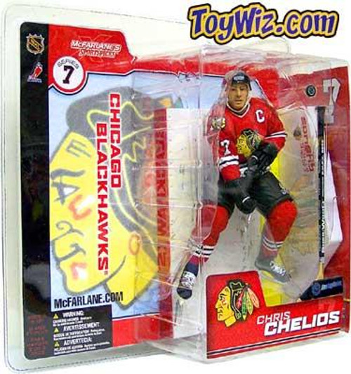 McFarlane Toys NHL Chicago Blackhawks Sports Picks Series 7 Chris Chelios Action Figure [Red Retro Jersey Variant]
