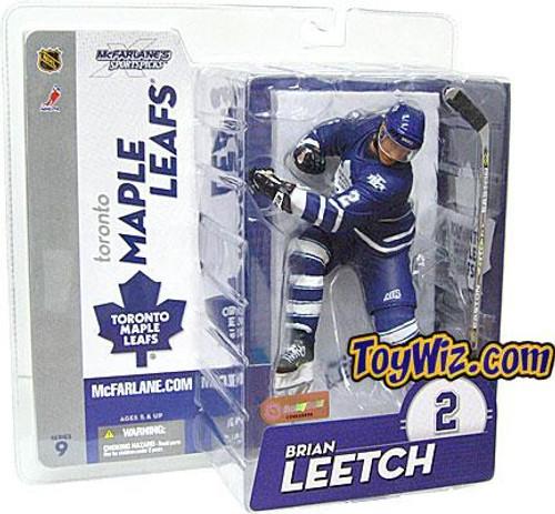 McFarlane Toys NHL Toronto Maple Leafs Sports Picks Series 9 Brian Leetch Action Figure [Blue Jersey]