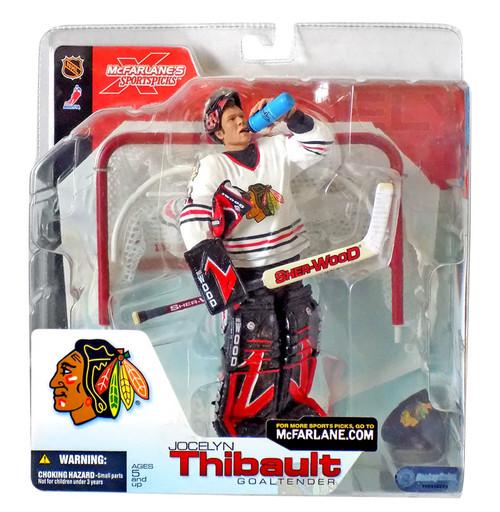 McFarlane Toys NHL Chicago Blackhawks Sports Picks Series 4 Jocelyn Thibault Action Figure [White Jersey]